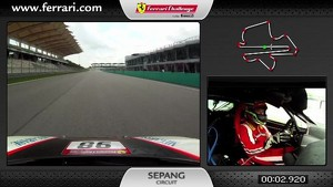 On-board of the Ferrari 458 Challenge: Philip Ma in Sepang