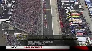 First Restart of the Race - Martinsville - 10/28/2012