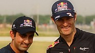 Red Bull Racing 2012 : Mark Webber and Gautam Gambhir Cricket Face-Off