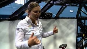 Simona at Dallara in Italy