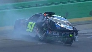 NASCAR Jeremy Clements HUGE CRASH During Qualifying | Feed The Children 300, Kentucky 2013