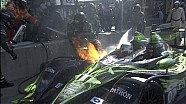 Scary Moment on pitlane with ESM #02  - ALMS - Tequila Patron - ESPN - Sports Cars - Racing - USCC