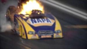 Ron Capps' Insane Drag Racer Explosion at NHRA Winternationals 2014