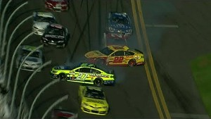 Multi-car crash red flags Daytona 500 practice