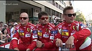 Le Mans in party mode for the drivers' parade