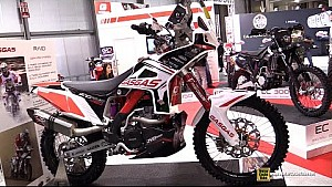 2015 Gas Gas EC 450 Raid Rally Dakar Bike at EICMA Milan Motorcycle Exhibition