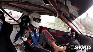 Polish Pro Drifter Bartosz drifts using his feet