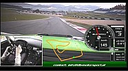 Cyndie Allemann tests the db-motorsport AMG SLS GT3: in-car cam and telemetry