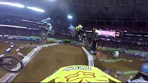 Cámara en el casco con Jimmy Decotis  en el Supercross Lites en Atlanta
