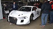 El nuevo  Audi R8 LMS GT3 2015  en el circuito de  Nürburgring Nordschleife