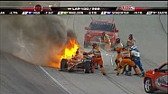 Simona De Silvestro wreck at the Firestone 550 (HD)