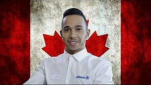 Lewis Hamilton 2015 Gran Premio de Canadá  vista previa, con Allianz