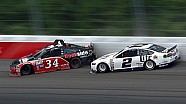 Keselowski gets tangled up with Moffitt