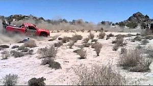Baja 500 - Robby Gordon strikes spectator