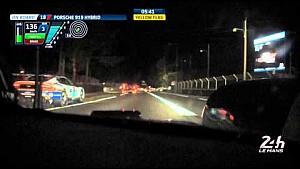 Porsche Team #18 Crosses Line for Pole Position at 24 Hours of Le Mans