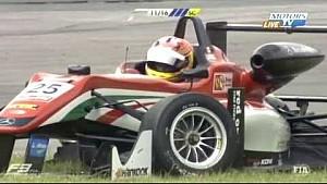 Столкновение трёх лидеров во второй гонки Европейской Ф3 в Спа