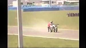 Weird bike crash at Daytona