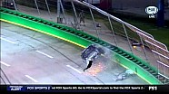 Ben Kennedy into the catch fence at Kentucky