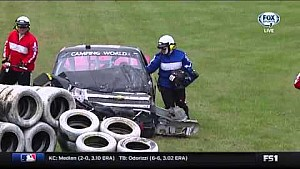 Jennifer Jo Cobb crashes in Mosport practice