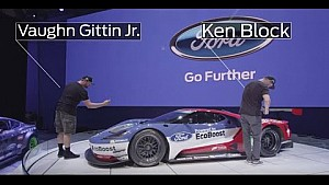 Ken Block and Vaughn Gittin Jr. Get First Look at Ford GT Race Car