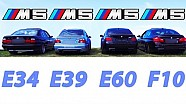 BMW M5 Sound Battle E34 vs E39 vs E60 vs F10 REVS Revving V8 V10 Exhaust