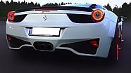 FERRARI 458 iTALIA Sound + DRAG RACE 550Plus Club Aceleration V8 Revs Prior