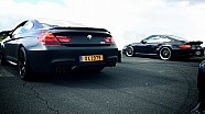 BMW M6 vs Porsche 911 Turbo 997 Drag Race Acceleration Sound