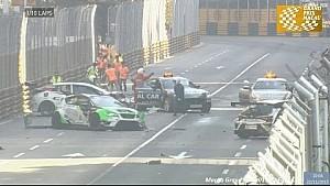 Авария на старте гонки TCR в Макао