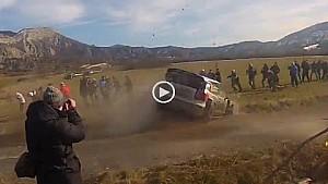 Jari-Matti Latvala crash at Rally Monte Carlo