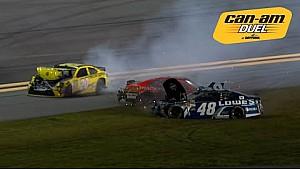 Kenseth, Johnson et d'autres se crashent dans le dernier tour des Can-Am Duels