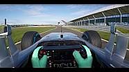 Onboard 2016 Mercedes F1 car and live commentary from Rosberg
