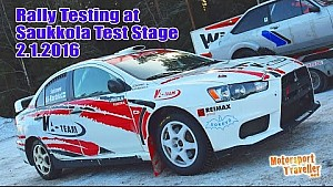 Rally Testing at Saukkola Test Stage 2.1.2016