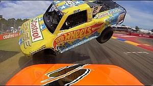 Supertruck-Crash aus Fahrerperspektive
