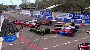 Incidente de varios auto, vuelta 4 a la Firestone GP de St Pete