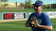 Nitro Funny Car driver Robert Hight and MLB Dodger Justin Turner trade places