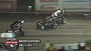 Highlights: World of Outlaws Craftsman Sprint Cars Bakersfield Speedway April 15th, 2016
