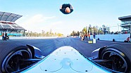 Damien Walters' Formula E car backflip in 360 Degrees
