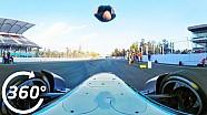 Damien Walters Fórmula E Backflip 360 grados