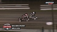 Highlights: World of Outlaws Craftsman Sprint Cars Devils Bowl Speedway April 22nd, 2016