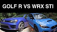 2016 VW Golf R vs 2016 Subaru WRX STI