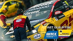 Natte kwalificatie WTCC Rusland met Tom Coronel