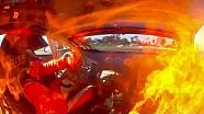 La voiture de Matt Turnbull prend feu durant une manche de GT Australien