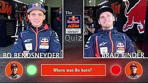 Bo Bendsneyder in de Red Bull KTM Ajo Quiz