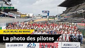 Les coulisses de la photo des pilotes avec Alex Wurz