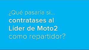 ¿Y si contratases al líder de Moto2 como repartidor?