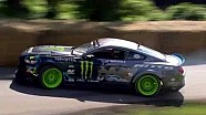 Vaughn Gittin Jnr. drifts the Mustang RTR at Goodwood Festival of Speed
