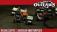 World of Outlaws Craftsman Sprint Cars Jackson Motorplex June 24th, 2016 | HIGHLIGHTS
