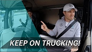 Rosberg, Hulkenberg & Wehrlein take truck driving challenge