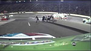 Tony Stewart Throws Helmet At Matt Kenseth - Bristol 2012