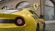 Ferrari F12 TDF on track